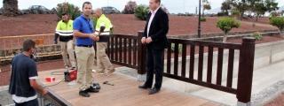 San Borondón denuncia deficiencias en el nuevo puente de las 25 viviendas de Playa Blanca
